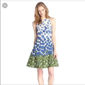 Maggy London Allegro Floral Dress 6 Blues/Greens